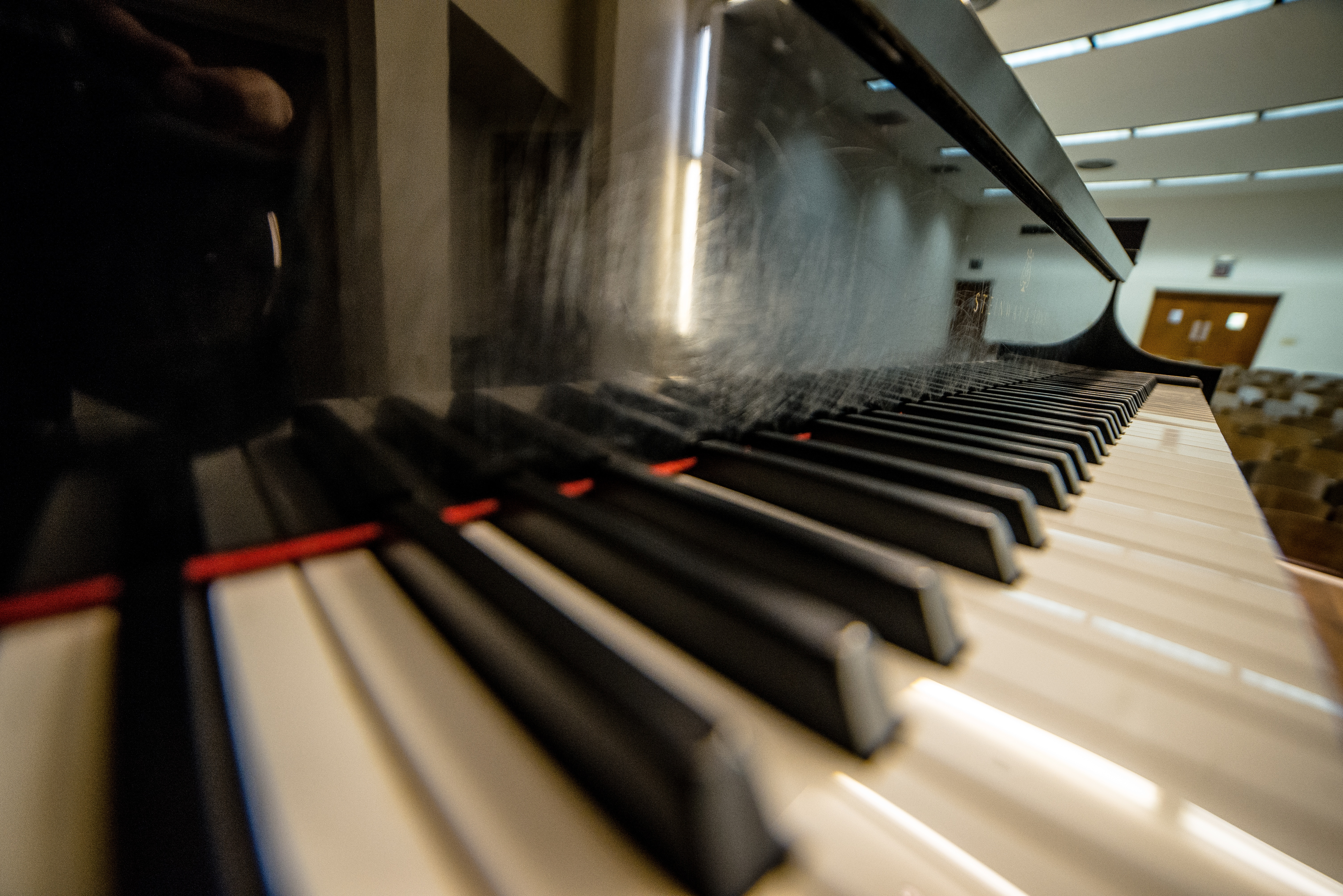 A Steinway & Sons Piano Keyboard