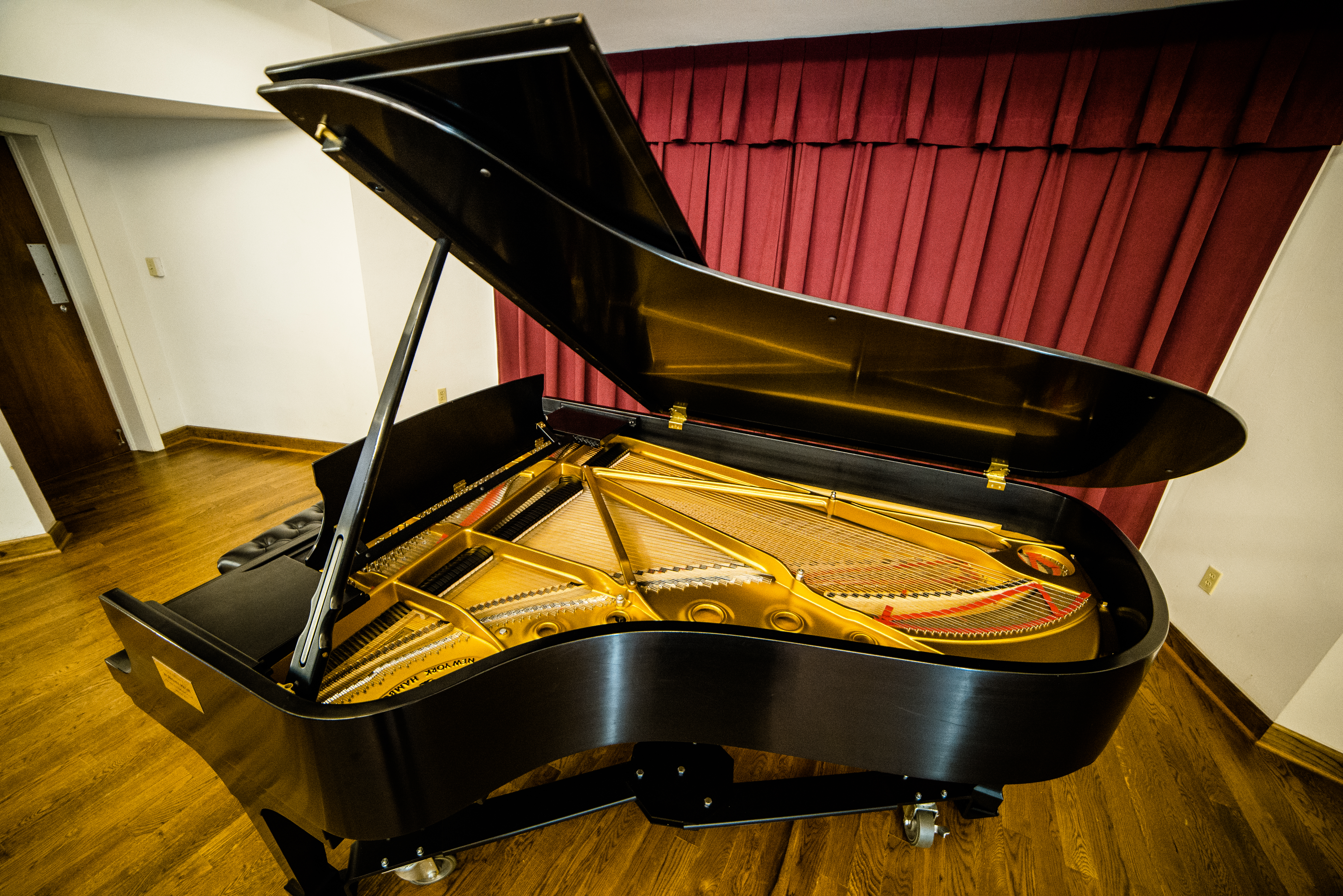 One of Coker College's Steinway and Sons Grand Pianos