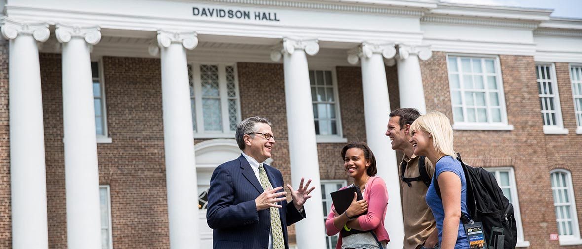 Dr. Wyatt with students